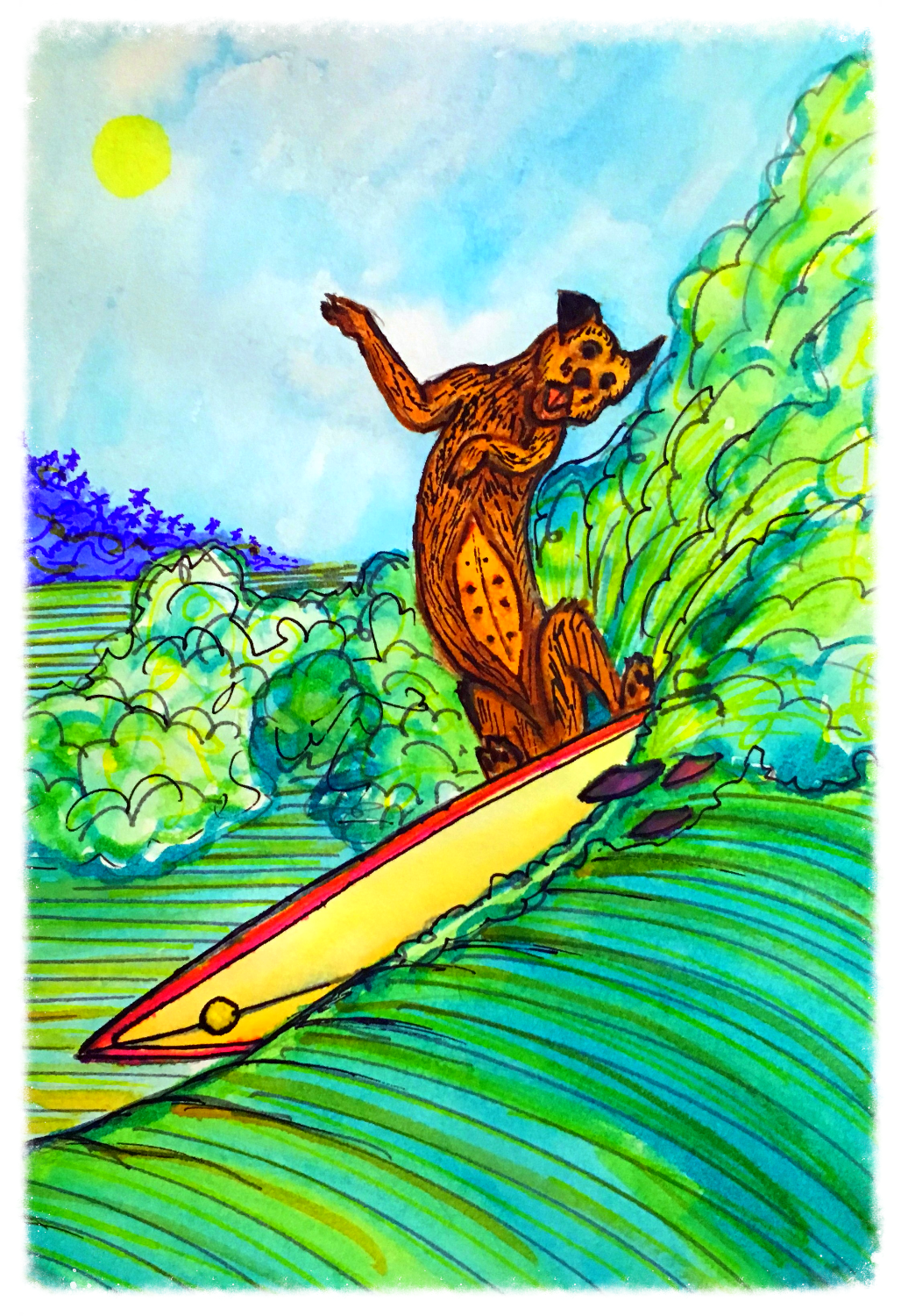 Surf Art by Brent February #29