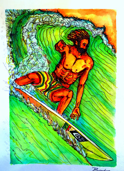 Surf Art by Brent February #12