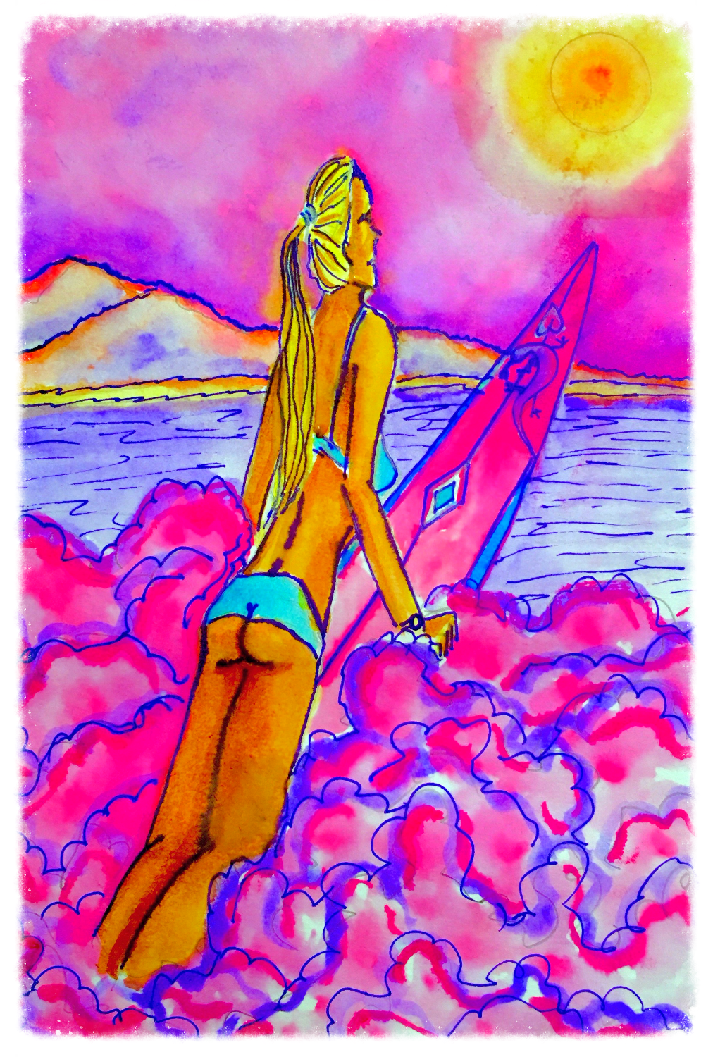 Surf Art by Brent February #23