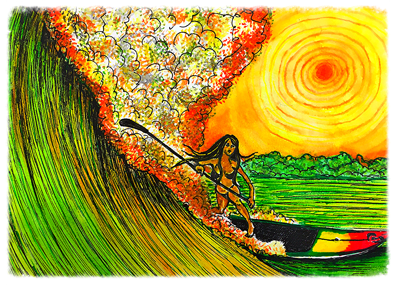 Surf Art by Brent February #10