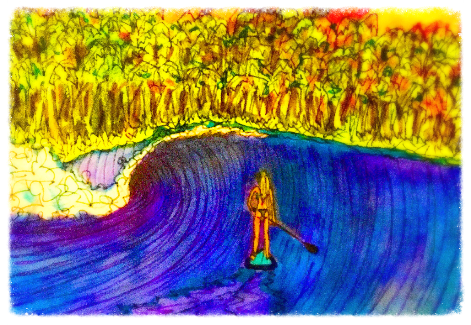Surf Art by Brent February #26