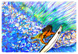 Surf Art by Brent February #9