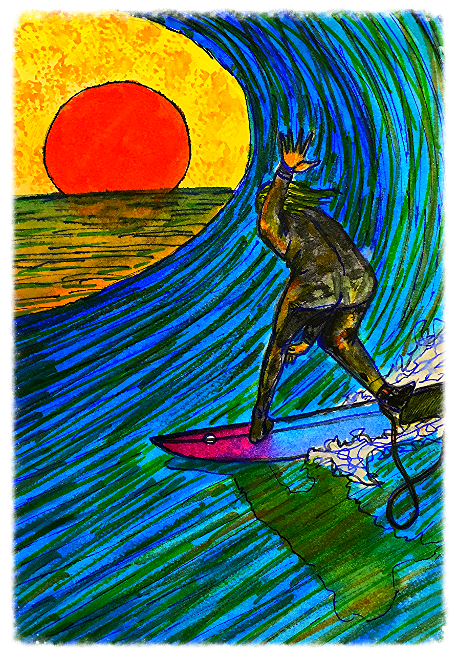 Surf Art by Brent February #5