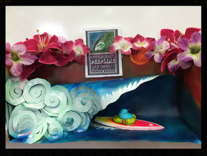 Surf Art By Brent at The PEEP Show!