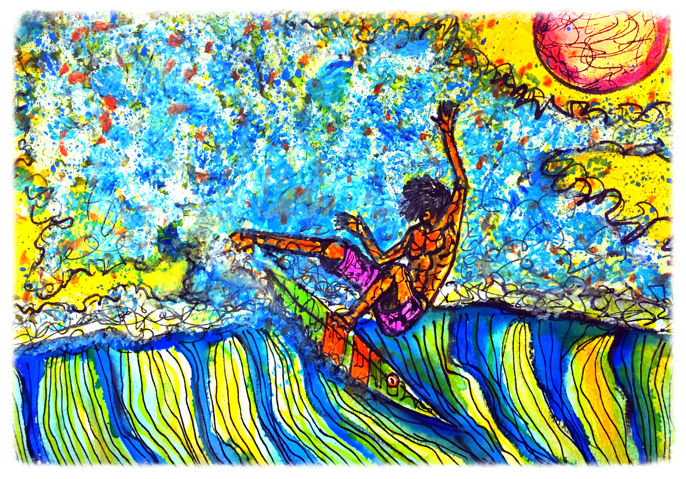 Surf Art by Brent February #14