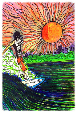Surf Art  by Brent January #27