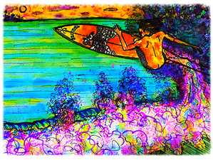"Surf Art by Brent on ""Talk Surf"" Radio Saturday Feb.13 from 1-2 pm  www.deforadio.com or A"