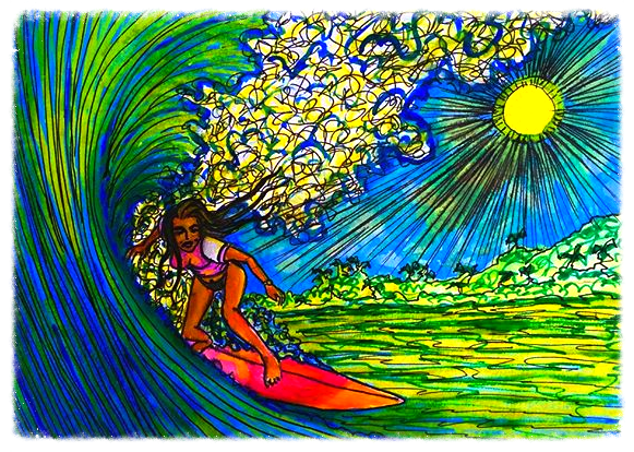 Surf Art by Brent February #17