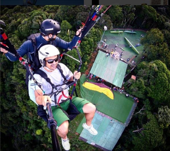 rampa de voo livre em São Conrado