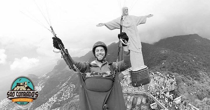 voo parapente no Cristo