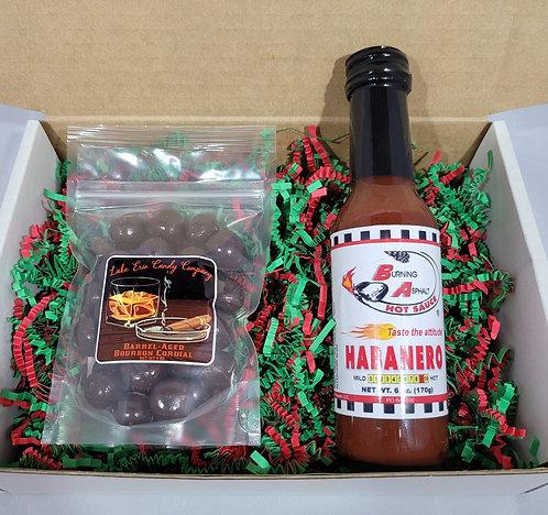 Habanero Hot Sauce & Barrel-Aged Bourbon Cordials