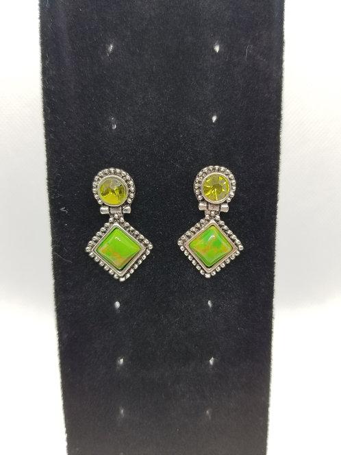 Green mini dangle