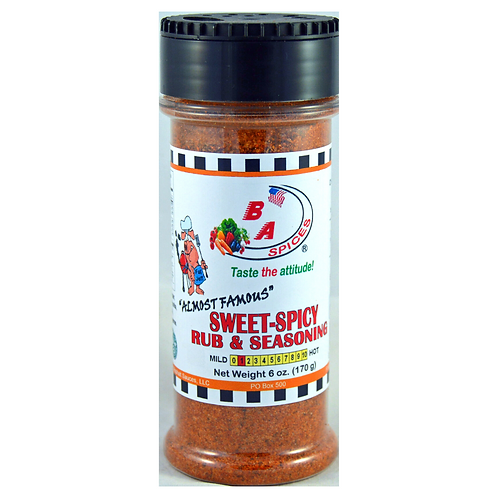 Sweet & Spicy Almost Famous Rub & Seasoning
