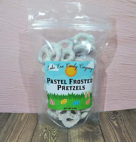 Pastel Frosted Pretzels