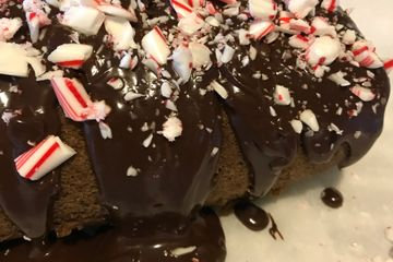 Candy Cane Cream Cake Roll