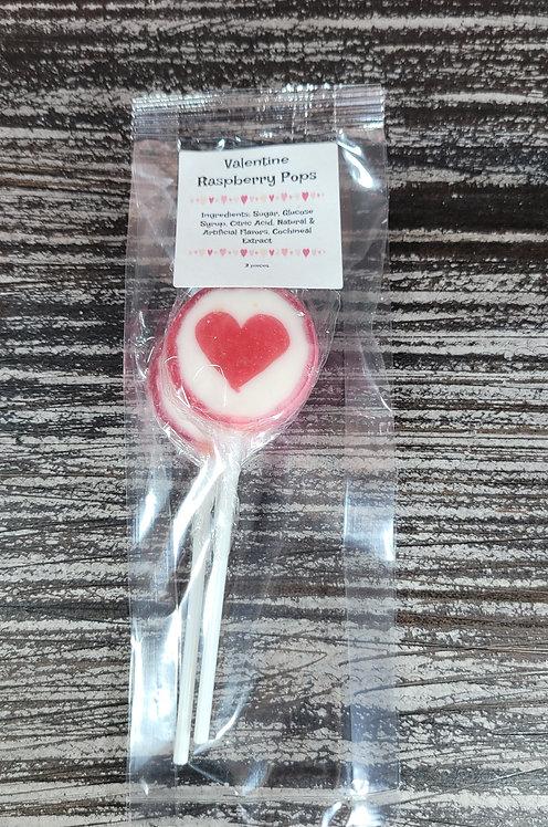 Valentine Raspberry Pops (2 pack)