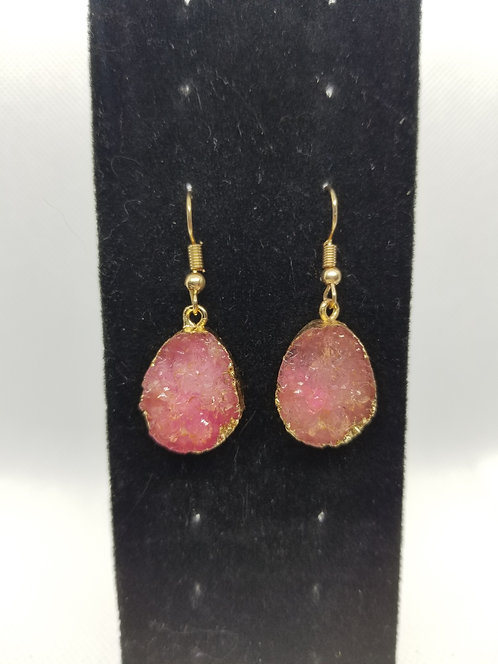 Pink & Gold Dangles