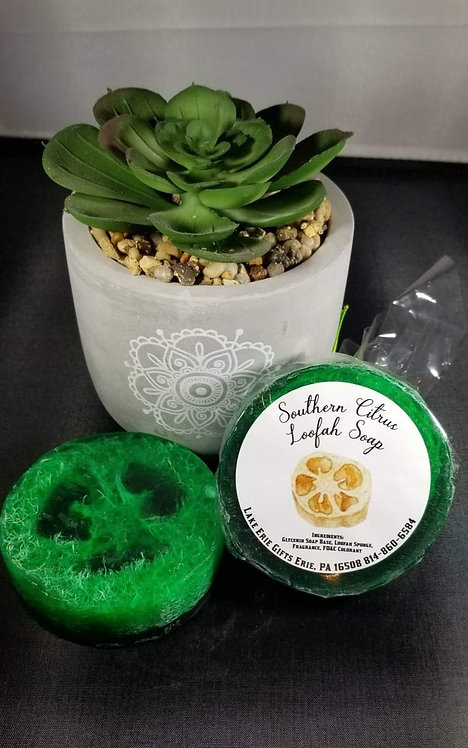 Southern Citrus Loofah Soap