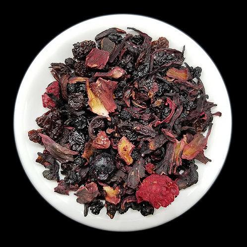 Hibiscus Raspberry Currant Loose Leaf Tea - 2 oz