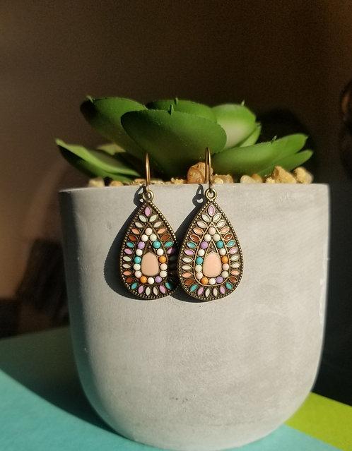 Multicolor Teardrop Bohemian Earrings