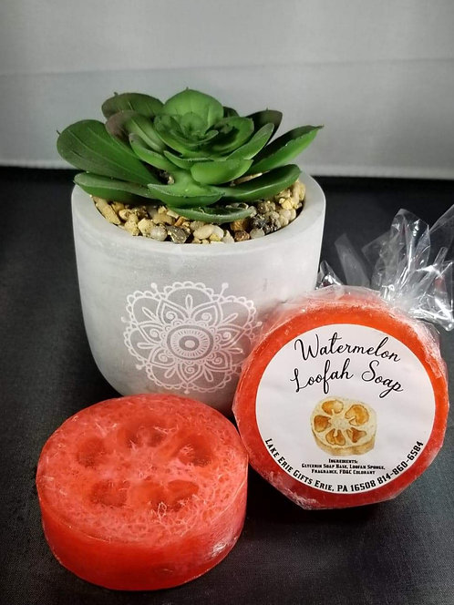 Watermelon Loofah Soap