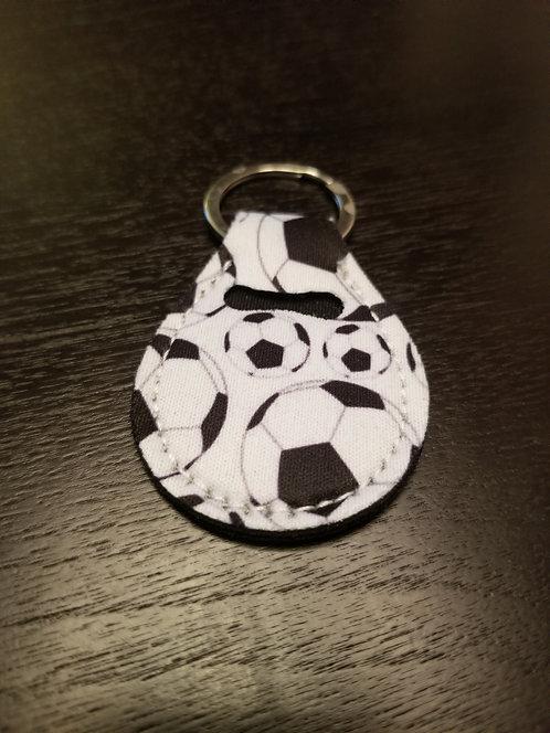 Soccer Ball Quarter Keeper Keychain
