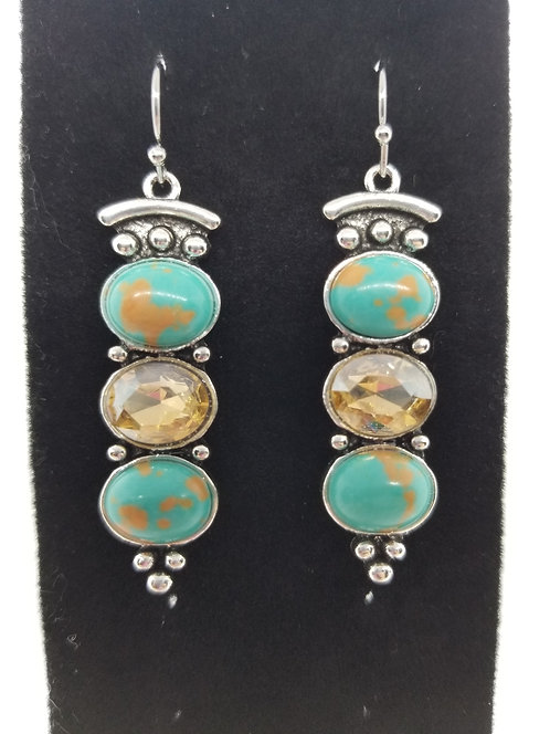 Turquoise & Citrine Dangles