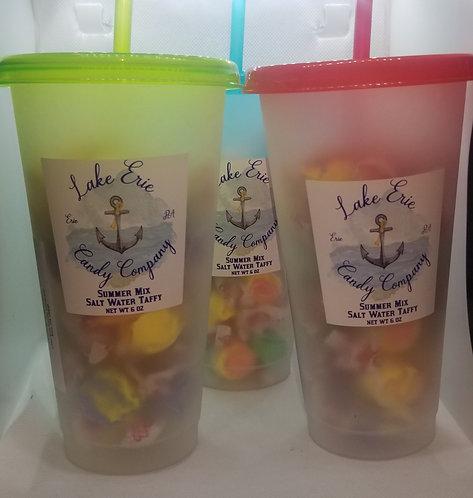 Summer Mix Salt Water Taffy in Reusable Cup