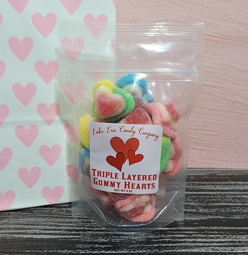 Triple Layered Gummy Hearts