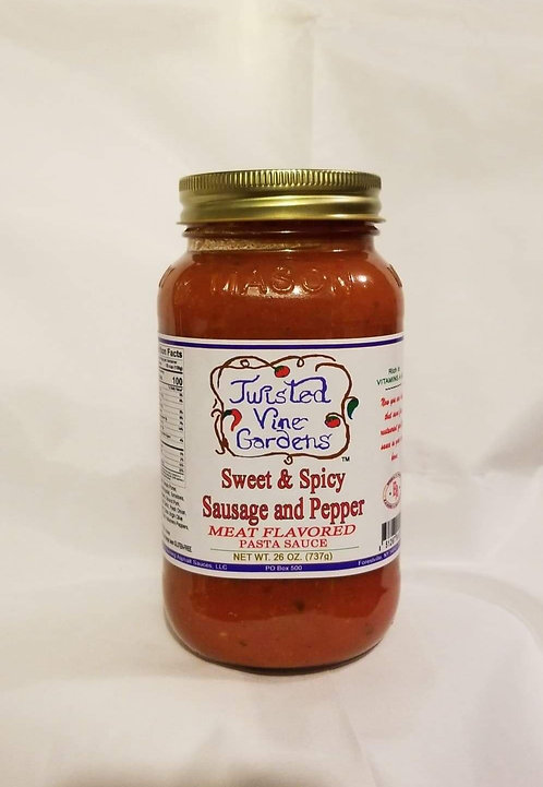 Sweet & Spicy Sausage and Pepper Sauce