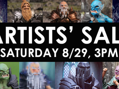 Artists' Sale Tomorrow - Final Details