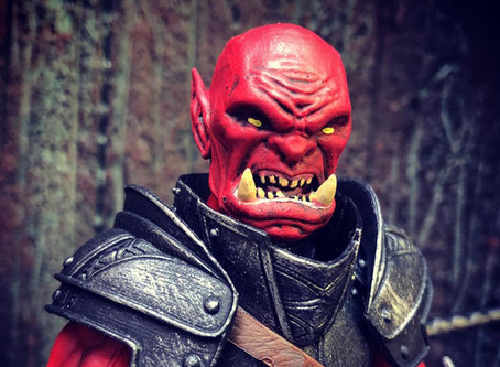"""Artists' Reveal #7B - """"Furious Red"""" Orc from Jeremy Girard"""