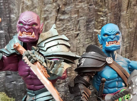 """Artists' Reveal #7C - """"Cool Blue"""" and """"Powerful Purple"""" Orcs from Dustin Yoak"""