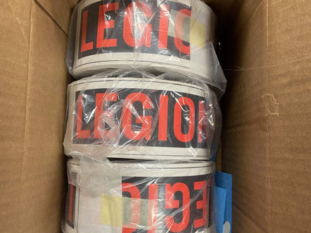 All LegionsShop Orders are in the Mail!