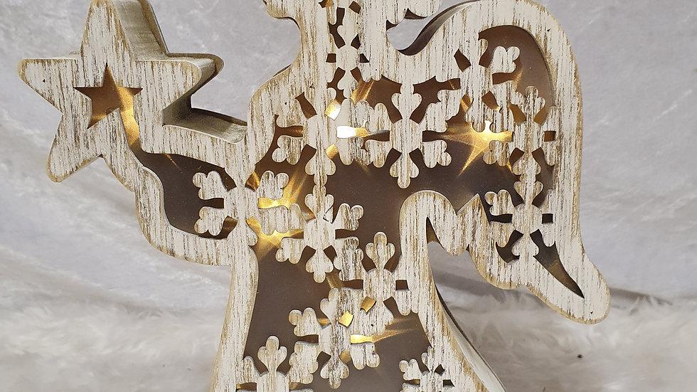Opulence wooden Light up angel