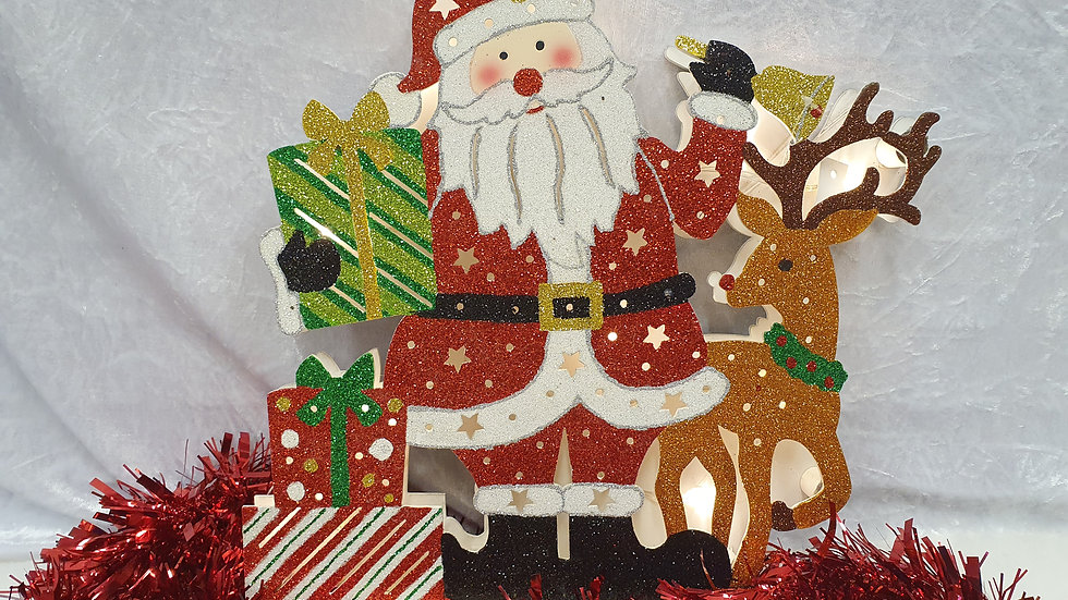 Light Up Santa and Reindeer