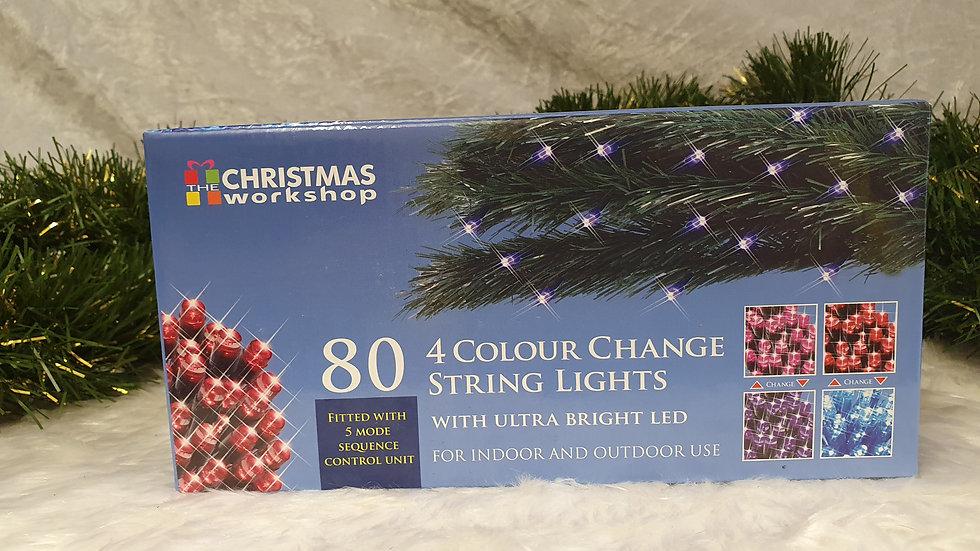 Christmas workshop 80 4 colour change string LED lights