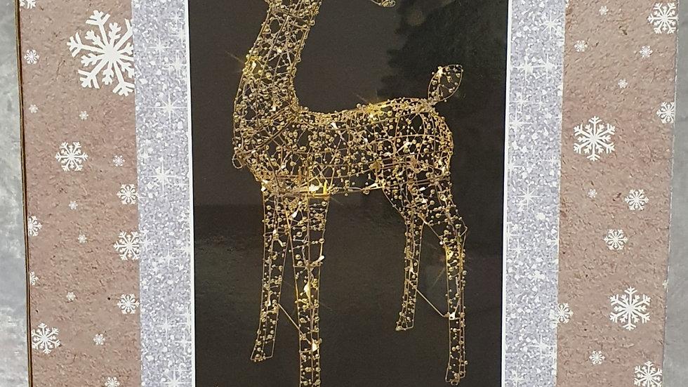 Christmas Wonderland gold bead standing reindeer