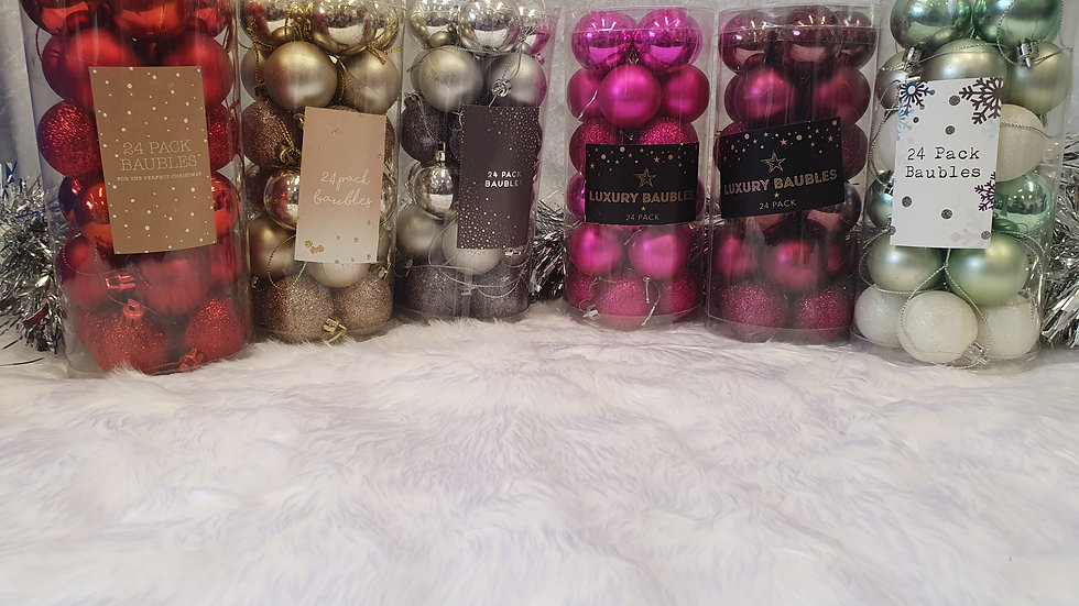24 Pack of Baubles