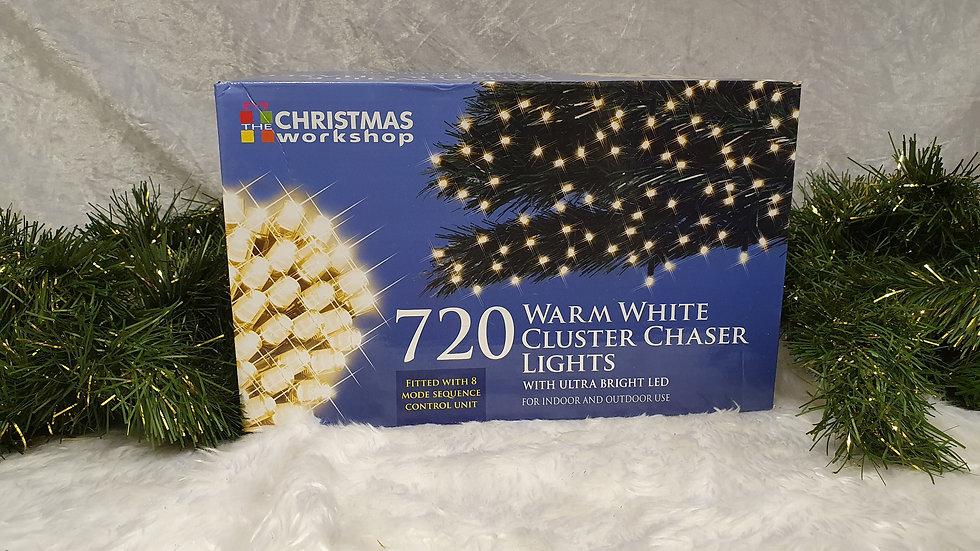 Christmas workshop 720 cluster chaser LED lights
