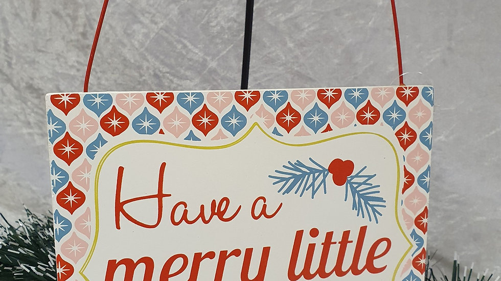 Gisela Graham Retro Merry Christmas Sign