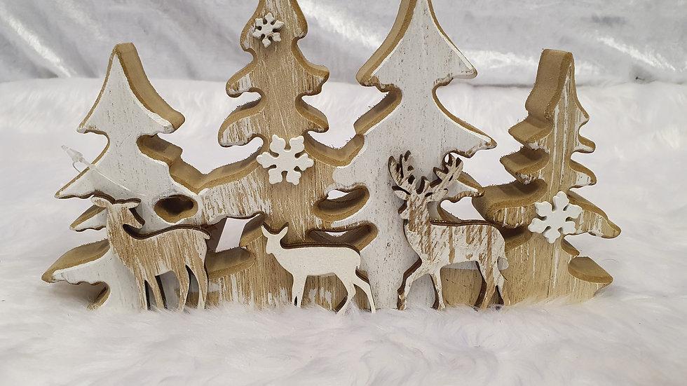 Woodland Reindeer Scene