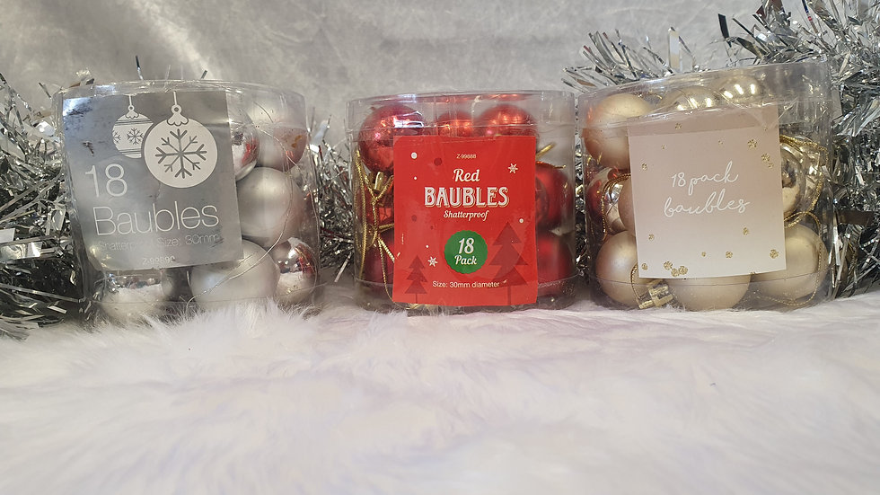 Pack 18 Baubles