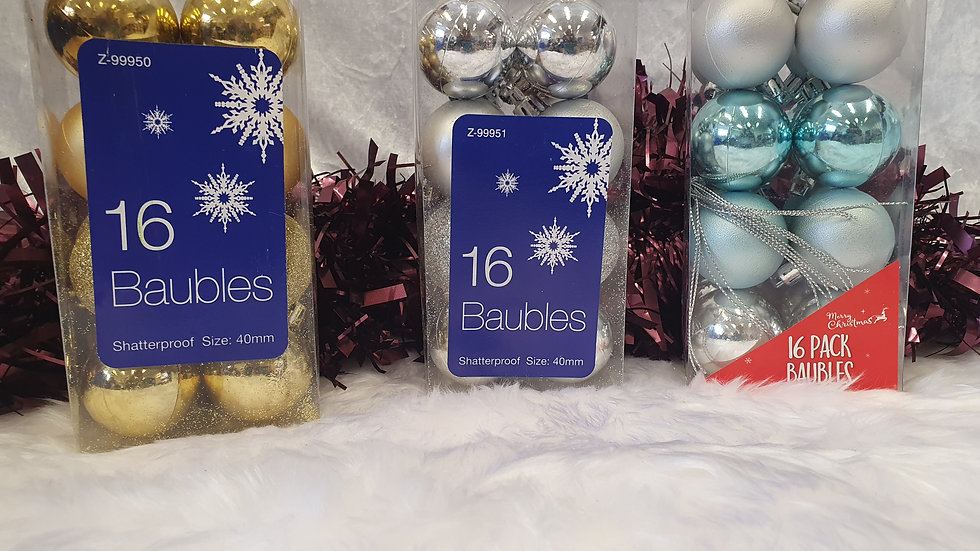 Pack 16 Baubles
