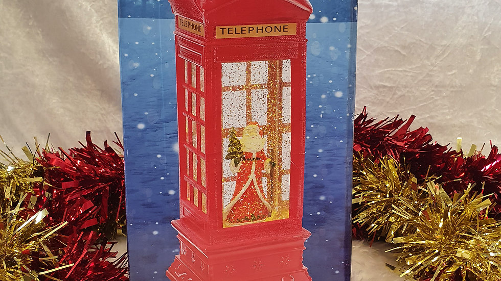 Christmas Workshop LED Santa Telephone Box