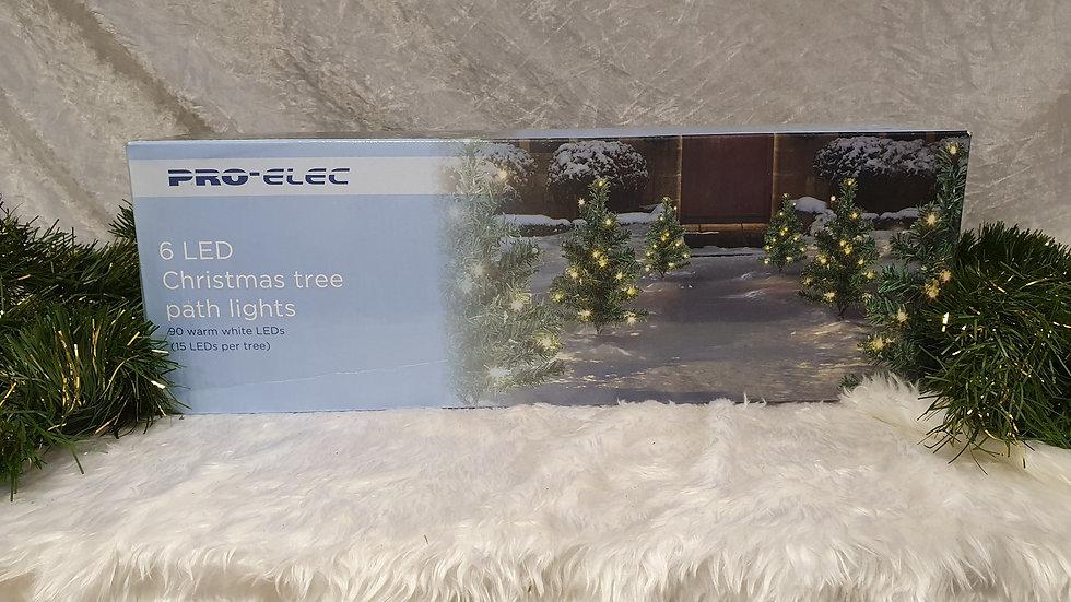 Pro-Elec 6 Christmas tree led path lights