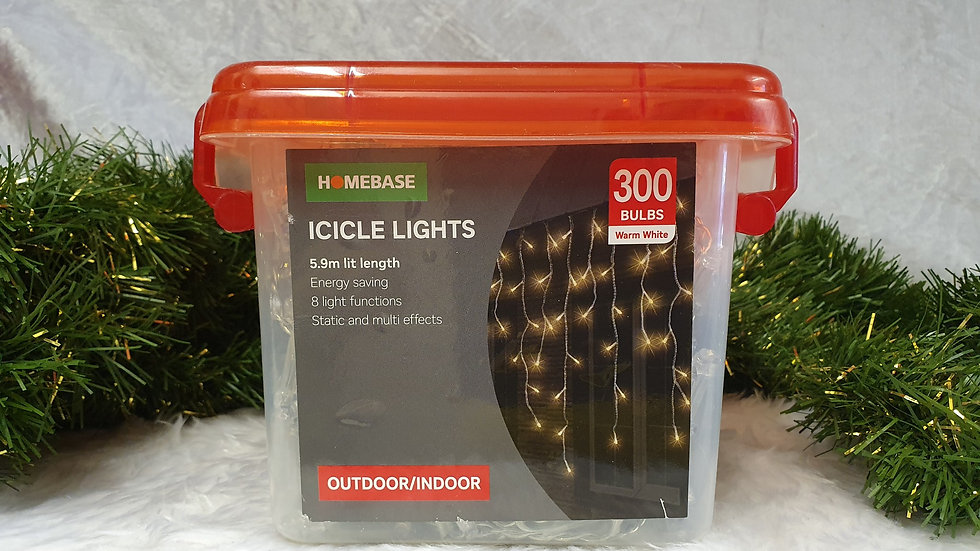Homebase 300 icicle lights