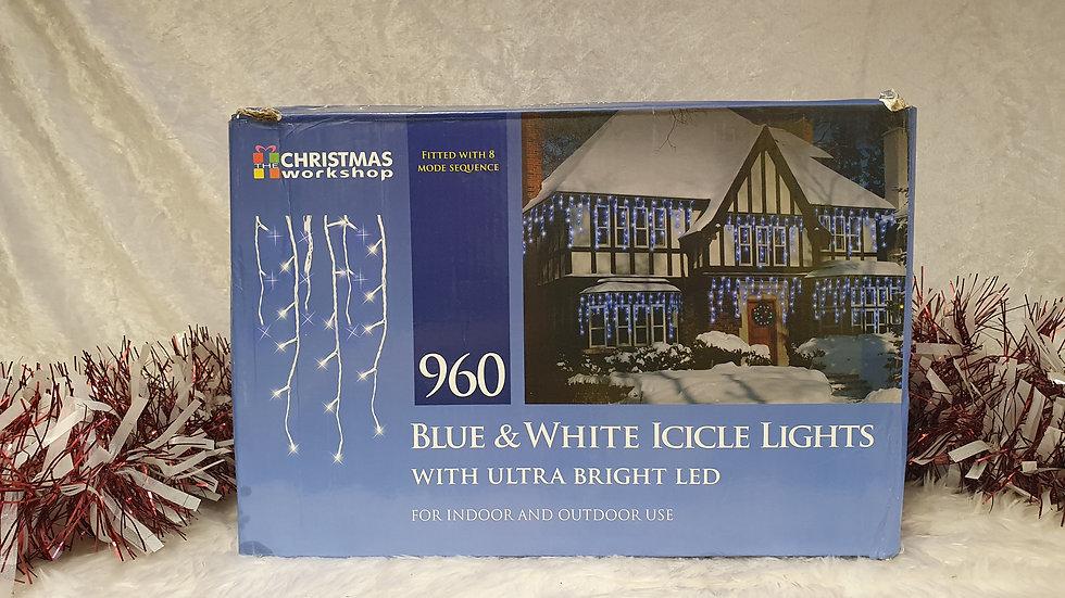 Christmas Workshop 960 led icicle lights