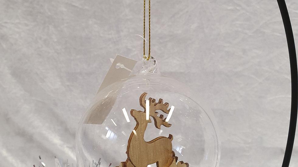 Wooden Reindeer Bauble
