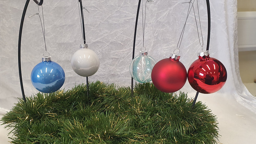 Set of 12 Glass Baubles